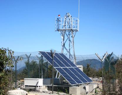 风光互补供电森林防火视频监控系统