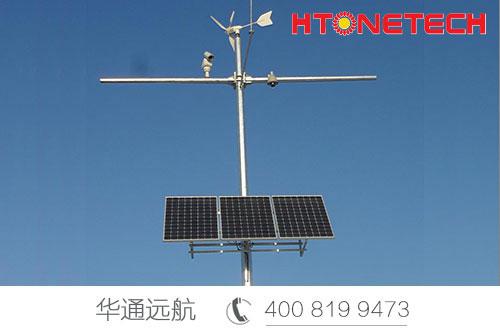云南沾会高速上的风光互补供电系统